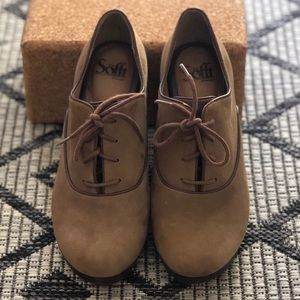 Sofft brand suede lace up bootie